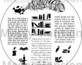 Nail Art Stamping Image Plate MM24 - Scriptorium