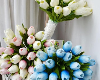 wedding bouquet pu real touch tulip more color