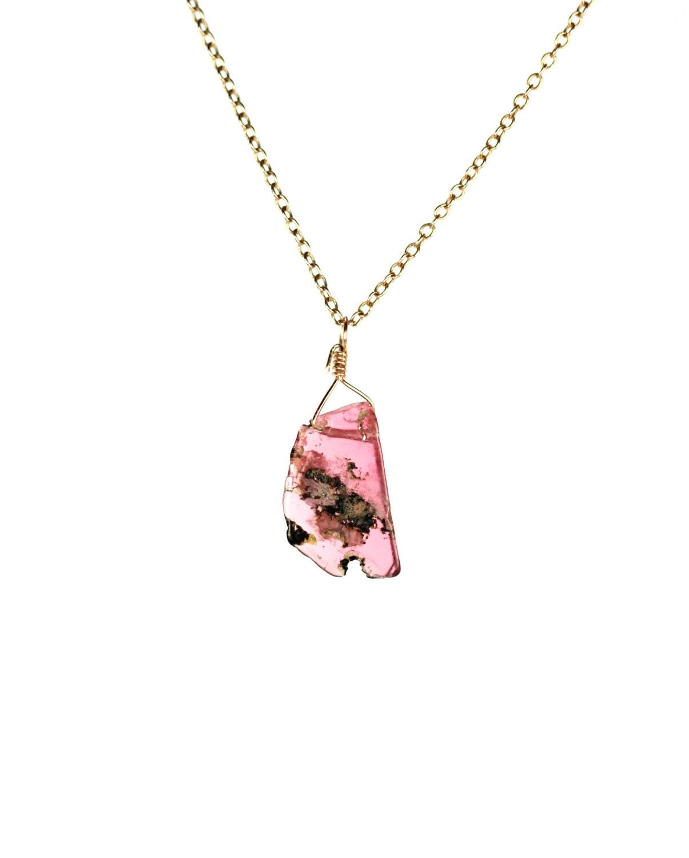 tourmaline necklace pink tourmaline energy boost by buburuby. Black Bedroom Furniture Sets. Home Design Ideas
