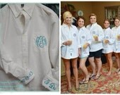 Monogrammed Button Down Bridal Shirt (set of 10)