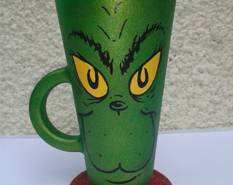 The Grinch Hot Chocolate/Latte Design Glass