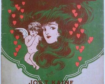 "Antique Sheet Music ""Love's Mystery"" Waltzes by Jos. T. Kane"