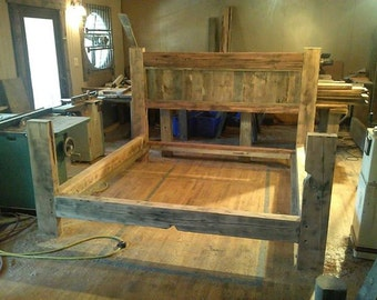 barn wood bed frame plans