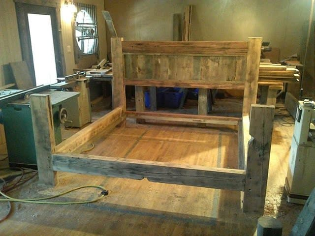 Barn Wood Bed Frame Plans PDF Woodworking