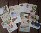 Antique Christmas Postcards - lot of 15 - early 1900's
