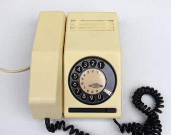 Vintage Buttery Rotary Phone