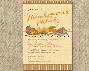 Thanksgiving Potluck Invitation