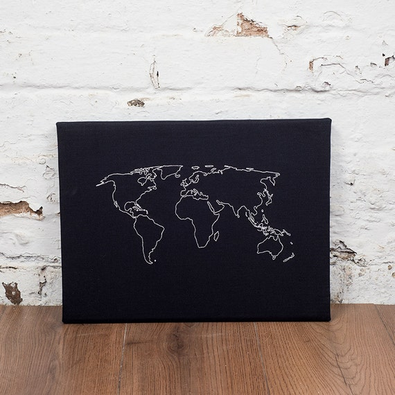 World map notice board cork world map world map pin board like this item gumiabroncs Choice Image