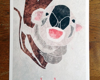 "KOALA | Limited Edition Print| A4 (8.5 x 11"")  with border"