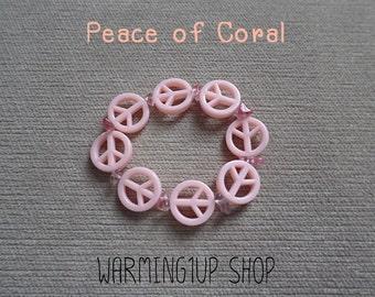 Peace Beads Bracelet (Coral)
