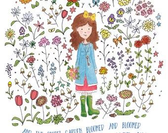 Mary Lennox - The Secret Garden - Fine Art Print