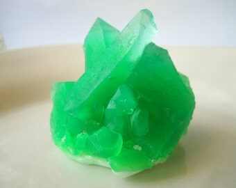 Emerald Gemstone Soap. Rock Soap, Mineral Soap, crystal soap, glycerin soap, Stone Soap, Geode Soap, handmade soap