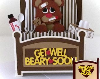 Get Well Bear Card In A Box 3D SVG
