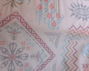 """Anna Maria Horner """"Loulouthi Needlework, Visions"""" in Powder 100% Cotton Fabric"""