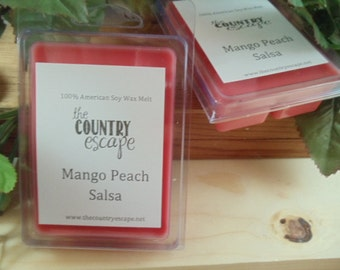 Mango Peach Salsa Scented 100% Soy Wax Melt - Maximum Scented