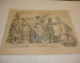 Les Modes Parisiennes Peterson's Magazine  August 1873