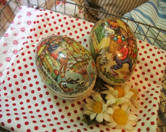 Vintage german Papier easter Eggs