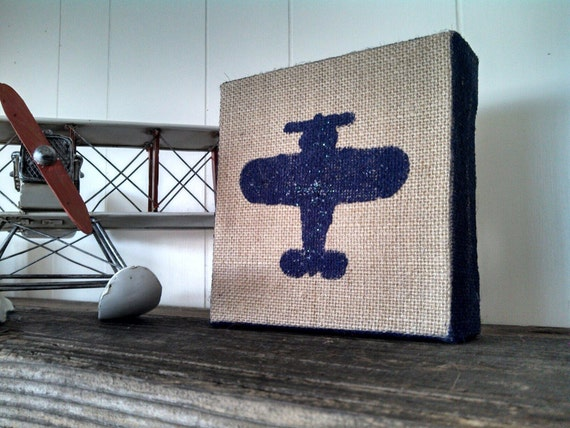 Https Www Etsy Com Listing 189286911 Airplane Burlap Sign Aviation Picture
