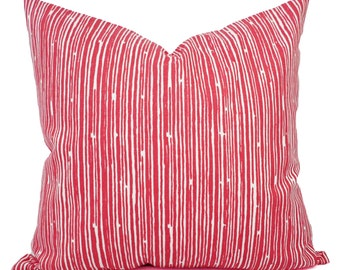Small Coral Throw Pillows : Pink striped pillow Etsy
