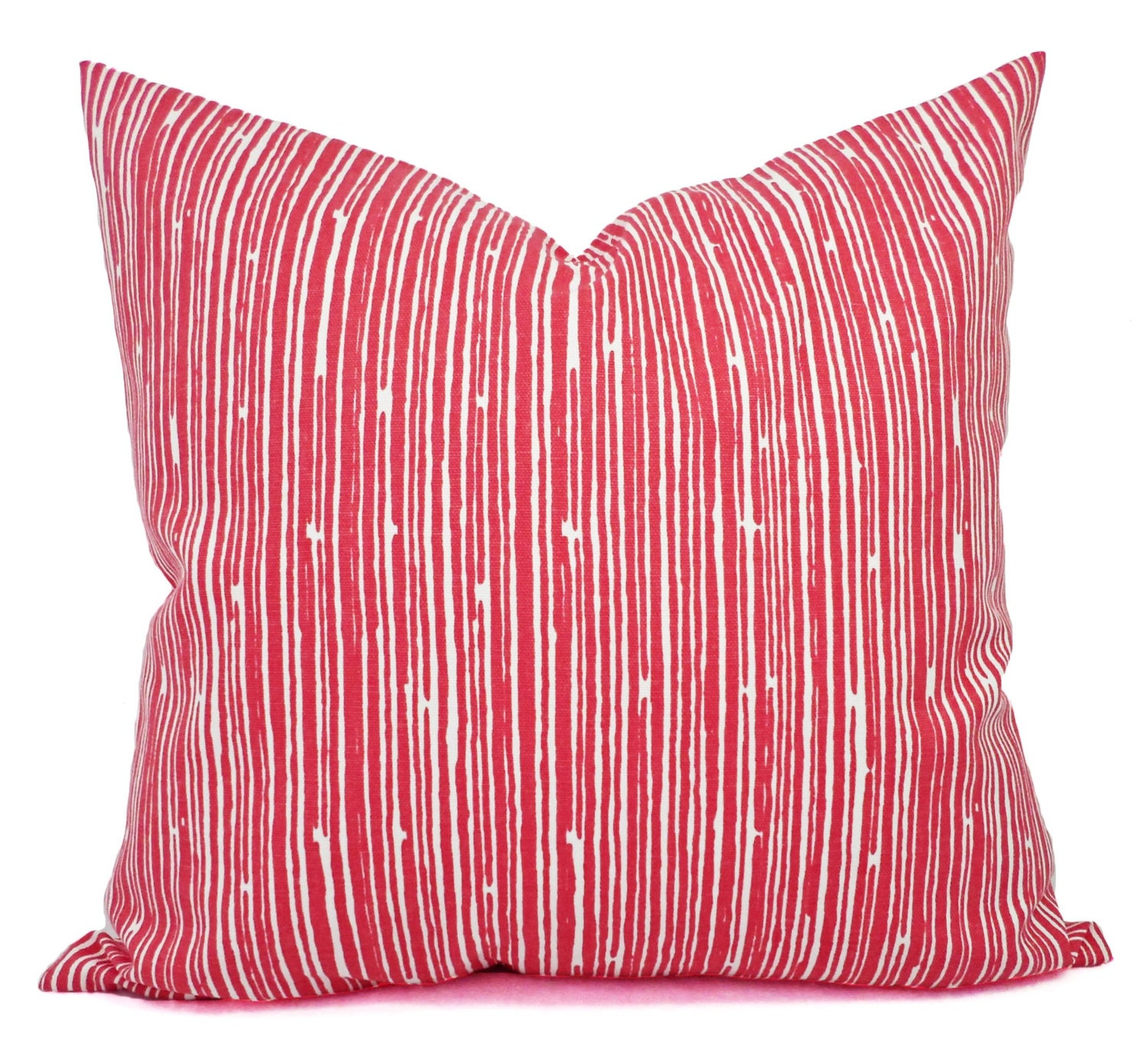 Decorative Pillows With Stripes : Coral Throw Pillows Pillows Coral Stripe Decorative Throw