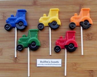 TRACTOR Pops (12) - TRACTOR Party/RODEO Party/Rodeo Birthday/Farm Birthday
