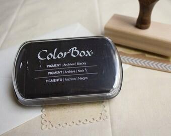 Black Pigment Ink Pad. Black Ink Pad. ColorBox Black Stamp Pad.