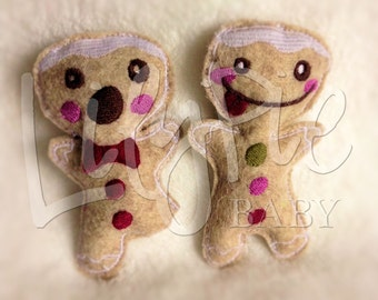 Gingerbread Man Hand Warmers --> Pocket Gingerbread Men - Stuffed Gingerbread Men - Portable Warmth - Gifts for Kids - Stocking Stuffer