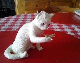 "lenox gold curious encounters 7"" cat figurine sooo cute"