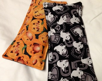 Halloween Eye Pillow - Microwavable Heating Pad - Hot/Cold Therapy Eye Pack - jack o' lanterns or ghosts and tombstones