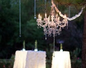 Customized Crystal Wedding Chandelier You Choose Color of Crystals! Hanging Crystal Wedding Chandeliers Wholesale Wedding Chandeliers