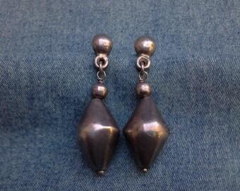Chunky 925 Sterling Silver Pierced Earrings