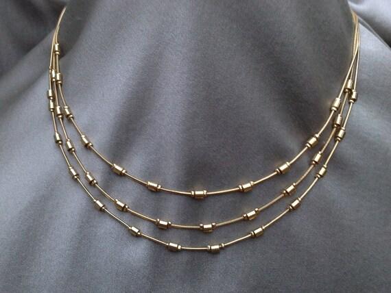 Monet Gold Necklace Vintage Jewelry Vintage Necklace
