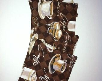 Fabric Coasters. Set of 4. Coffee Coasters.