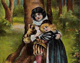 Babes in the Wood 1908 Postcard