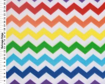 Chevron Fleece Fabric, Zigzag Fleece Fabric, Decorative Fabric, Red/Blue/Coral Orange/Mustard Yellow/Purple/Turquoise/Green, Fabric Yardage