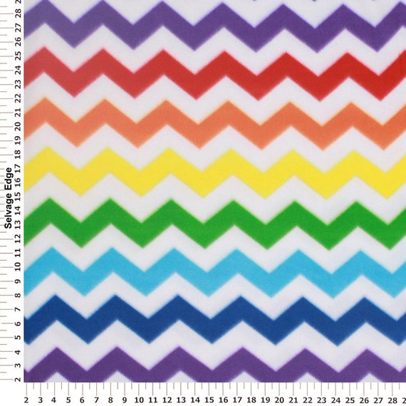 Chevron Fleece Fabric Zigzag Fleece Fabric Decorative
