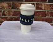 "Castle Coffee Cozy - ""Police Vest"""