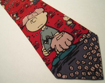 Charlie Brown Baseball Necktie no 1C for Young Boy.