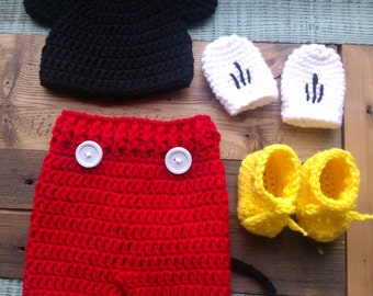 Mickey Mouse Outfit Crochet Hat Pattern Free Joy Studio Design Gallery - Be...