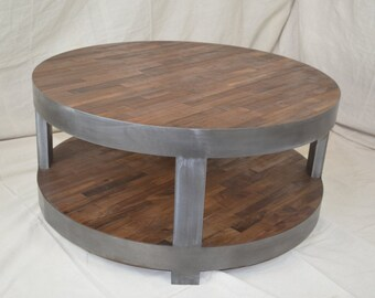 Attractive Round Coffee Table With Shelf