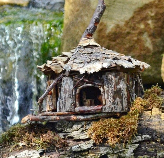 Fairy house indoor or oudoor hand built all natural - Houses made from natural materials ...