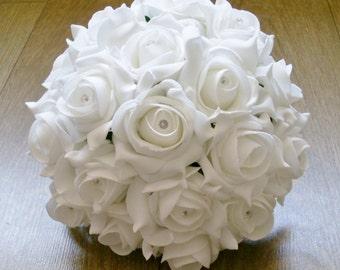 Artificial Wedding Flower Medium Bridesmaid Bouquet
