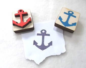 Stamp, anchor, 4 x 3 cm (S13-0001A)