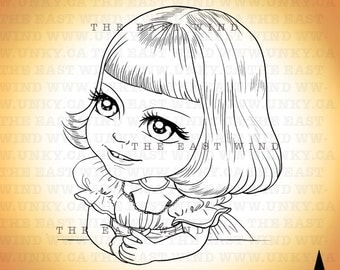 Digital stamp- Baby Girl- 300dpi jpeg/png files - MAC0058