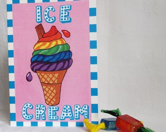 Candy Collection - Ice Cream greeting card