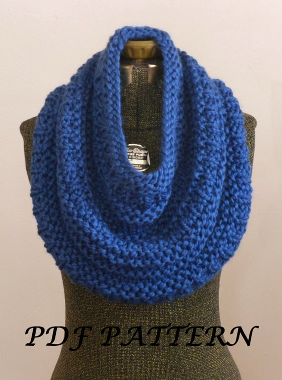 Pashmina Cowl Knitting Pattern : INSTANT DOWNLOAD Knitting PATTERN The Montague Capelet, Knit Cowl Pattern, Kn...