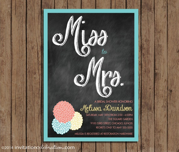 Bridal shower invitation from miss to mrs vintage retro il570xn filmwisefo