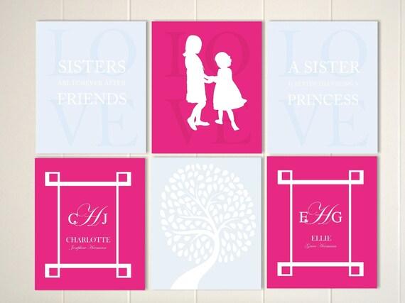 Items Similar To Sisters Room Decor Sisters Wall Art