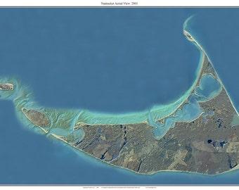 Nantucket, Massachusetts - 2001 Aerial Photo Composite