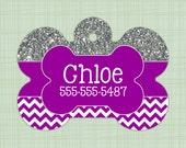 Custom Pet ID Tag circle, Personalized Dog Tag, Identification name tag, Cat Tag, Lunch Box Tag, Bag Tag